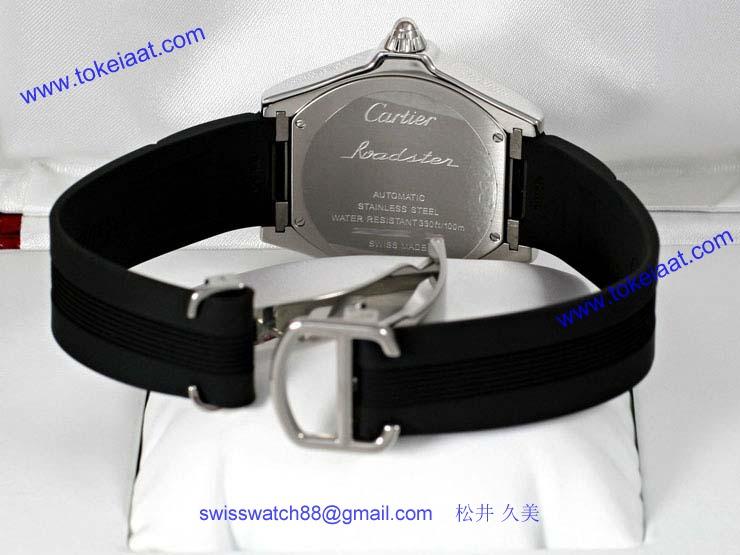 ブランド CARTIERカルティエ 時計コピー ロードスター S シルバーオパラインダイアル W6206018